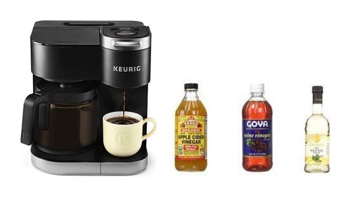 Keurig coffee maker with vinegar