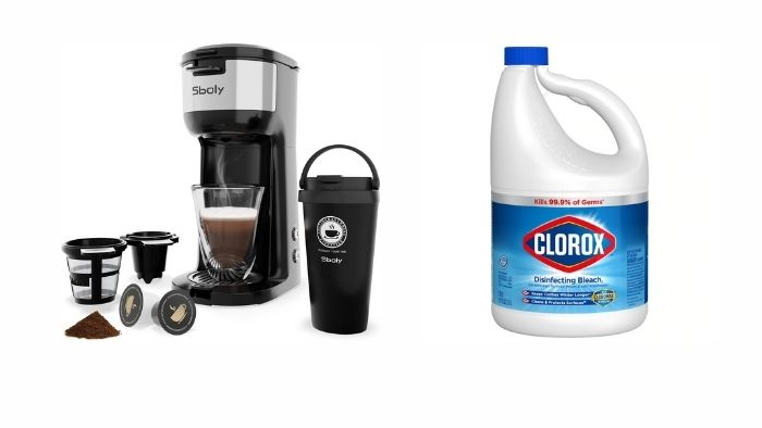 coffee maker be cleaned with bleach