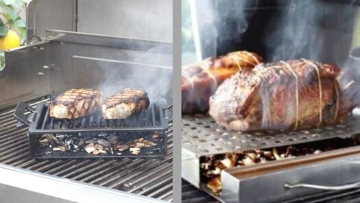 How do you smoke meat on a gas grill